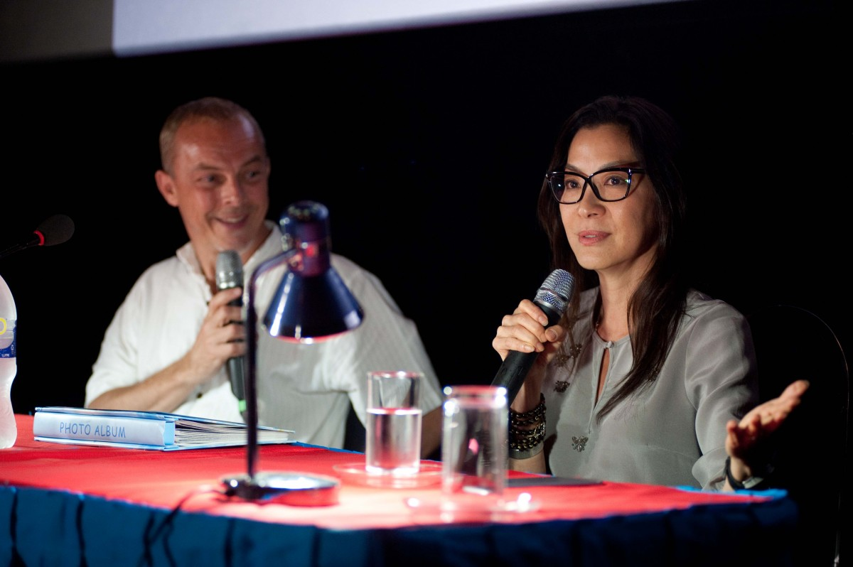 Yves Montmayeur and Michelle Yeoh ©MEMORY! Festival-Christine Tamalet